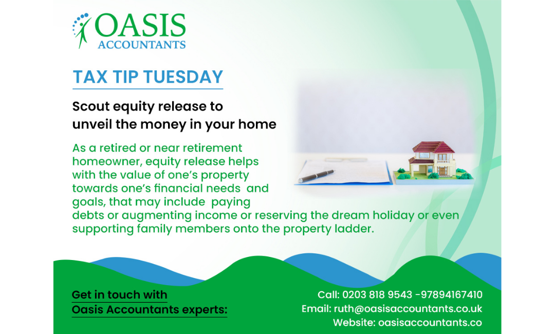 Tuesday Tax Tip – Scout Equity Release To Unveil The Money In Your Home